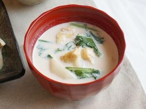 かぶのミルク味噌汁