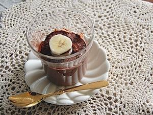 豆乳とバナナのチョコムース