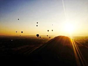 【メキシコ】気球に乗って日の出を堪能