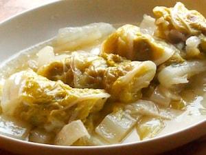 豚バラと白菜のゆず胡椒ロール煮