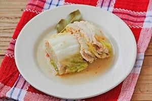 白菜とひき肉の煮込み