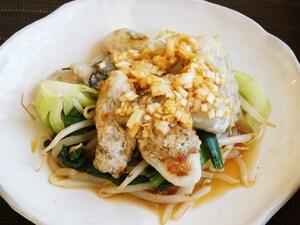 牡蠣の中華風ソテー