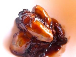 カキのメープルシロップ赤ワイン煮