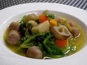 根菜たっぷり味噌スープ