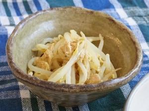 チン!で簡単、もやしツナサラダ