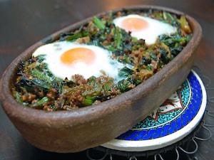 卵とほうれん草のオーブン焼き