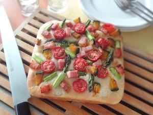 彩り野菜のフォカッチャ