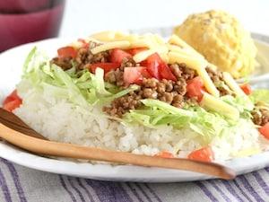 合いびき肉で作る簡単タコライス
