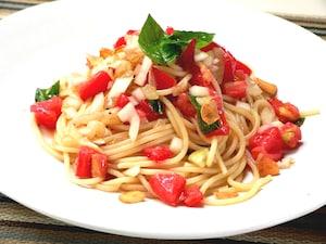 定番トマトの冷製パスタ