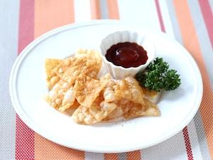 シンプル餃子の皮チップス