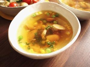 ソーセージの即席カレースープ