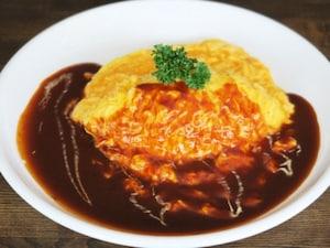 ランチにおすすめ→洋食屋さんのオムレツライス