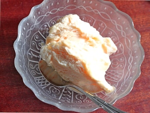 2つの材料でできる卵アイスクリーム