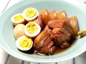 炊飯器で作る、大根とゆで卵がおいしい豚の角煮