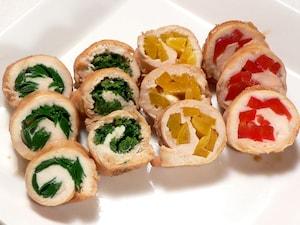 彩り野菜のササミ巻き