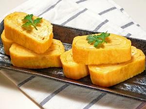 丸いフライパンで作る卵焼き