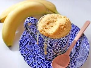 マグカップでバナナケーキ