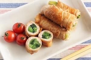 ひと口サイズで食べやすい! 小松菜の肉巻き照り焼き