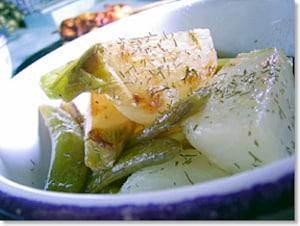 蕪とスナックエンドウのサラダ