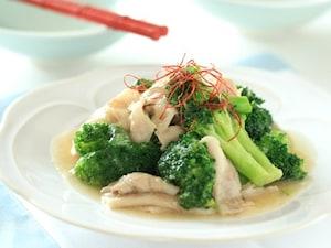 ブロッコリーと豚ニンニク炒め