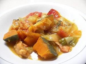 かぼちゃのカレースープ煮