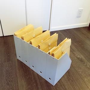 無印良品のファイルケース+封筒