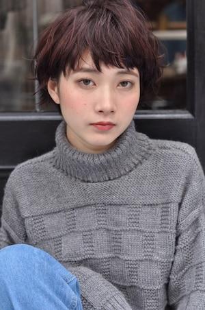 女優系マッシュショート