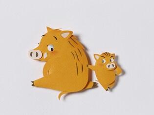 かわいい亥年のイラスト&テンプレート集