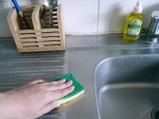 セルローススポンジで、台ふきんの雑巾臭にさようなら!