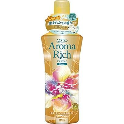 ソフランアロマリッチ 柔軟剤 マリア(エレガントフローラルの香り) 本体 600ml