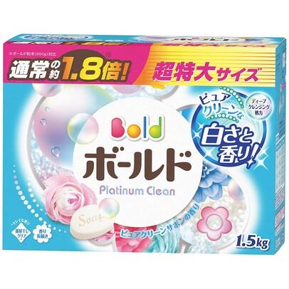 ボールド 洗濯洗剤 粉末 プラチナクリーン ピュアクリーンサボンの香り 1.5kg