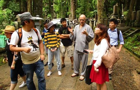 Swiss Priest Guides Visitors at Koyasan