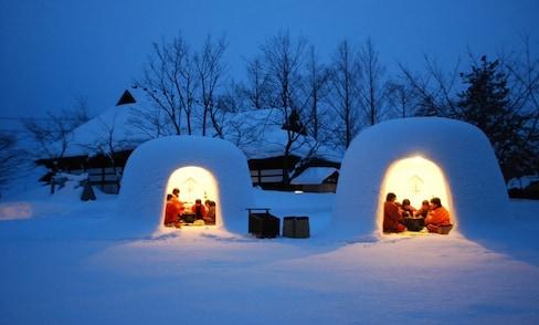 """不用去到北极也能体验的""""雪屋"""""""