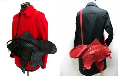 超彷真金鱼造型侧背包