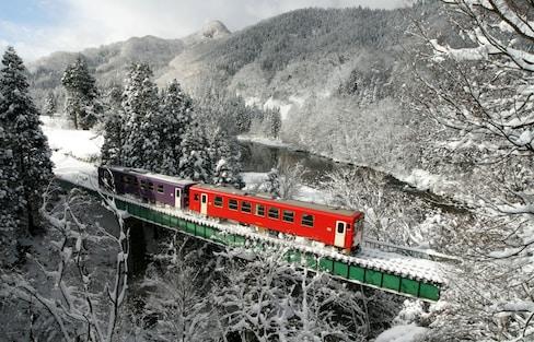 秋田内陆线:驶向冬日乐园的列车