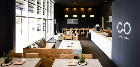 An Industrial Warehouse Converted to a Café