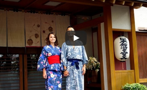 '료칸'에 간 그레이스와 료스케