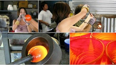 来那霸参加琉球传统吹玻璃体验课