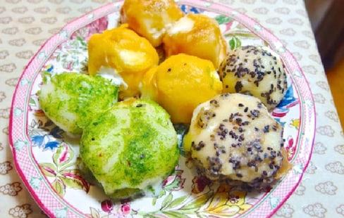 自制油炸麻糬冰淇淋