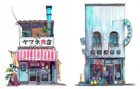 Matto's 'Tokyo Storefront' Illustrations