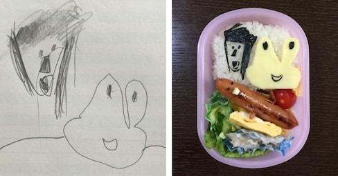 Dad Turns Daughter's Art Into Edible Bento