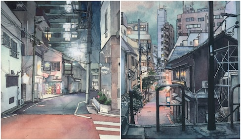Watercolors Bring the Streets of Tokyo to Life
