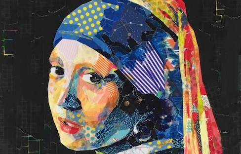 Masking Tape 'Paintings' Reproduce Famous Work