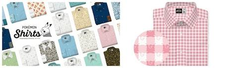 Classy, Custom-Fitted Pokémon Dress Shirts
