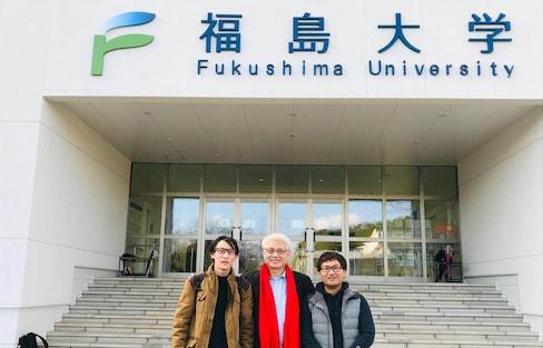 在福岛大学就读的中国留学生