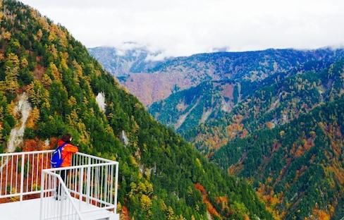 一個人去旅行!秋日山稜橘黃錯落妝點唯美北阿爾卑斯山「立山黑部」