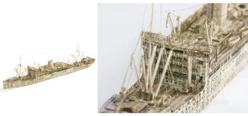 Preserving History with Newspaper Sculptures