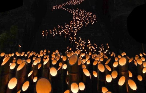 20,000 Bamboo Lanterns Light Up Oita