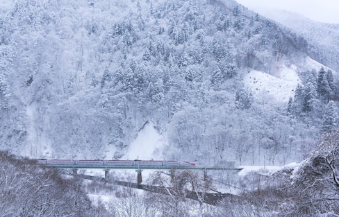駛向冬日樂園的列車「秋田內陸線」