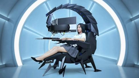 Robo-Scorpion Chair Perfect for Villain Lair